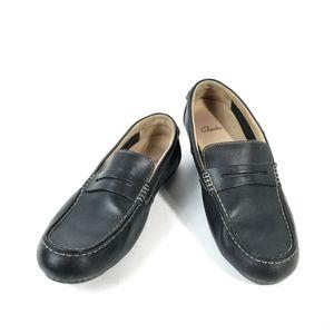 Clarks Men's 11.5 M Black Penny Loafer Driving :H